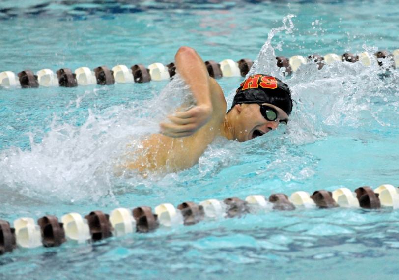 Philip Nawn, swimming against Garnet Valley Dec. 11, has helped Penncrest start the season with four wins in as many meets. (Special to the Times/ROB DUDLEY)