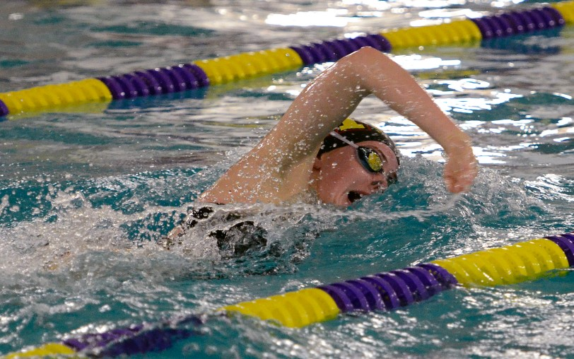 Madison Hart, seen here winning the 100 free against Upper Darby, is one of the main reasons behind the Fords' 5-0 start to the season. (Times Staff/TOM KELLY IV)