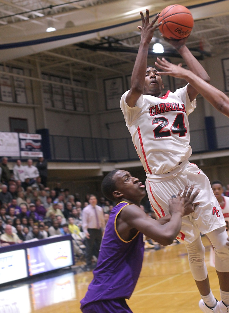 Archbishop Carroll's Derrick Jones, pictured Sunday against Roman Catholic, is among 823 players to be nominated to the McDonald's All-American Game. (Times Staff/ROBERT J. GURECKI)