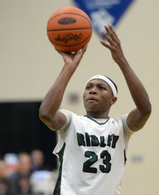 Ameer Staggs' Ridley squad stand seventh in Class AAAA according to Monday's District One power rankings. (Times Staff/TOM KELLY IV)