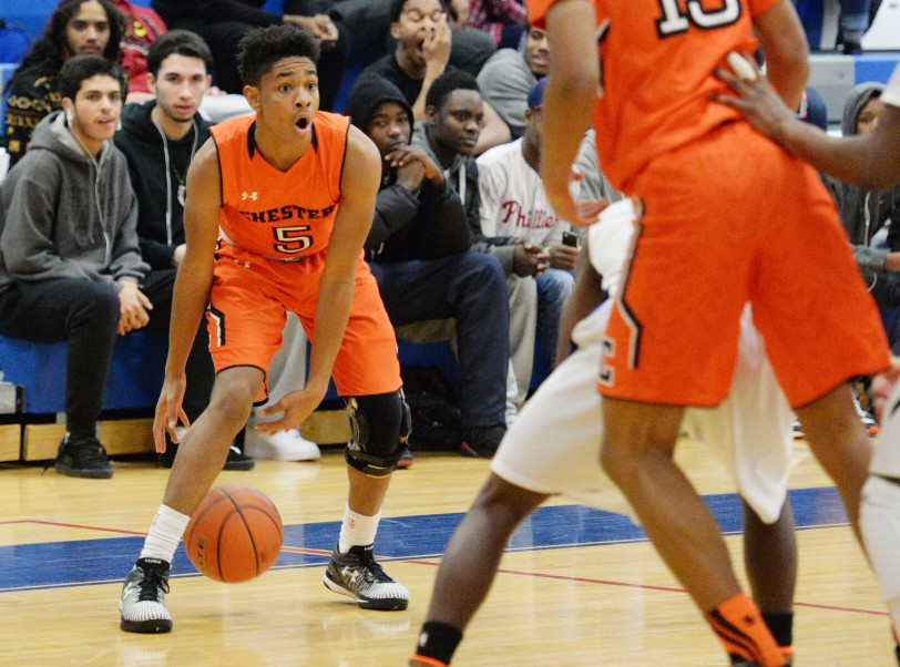 Chester's Ahrod Carter stepped up with two clutch buckets late in Wednesday's loss to Academy Park, but the sophomore guard could use more help in crunch time. (Times Staff/TOM KELLY IV)
