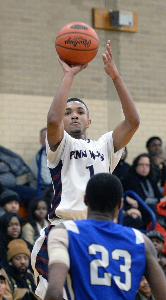 Penn Wood brings more to the table than just Malik Jackson's shooting ability, but the battle from beyond the arc will be a big part of their game with Penncrest Friday. (Times Staff/TOM KELLY IV)
