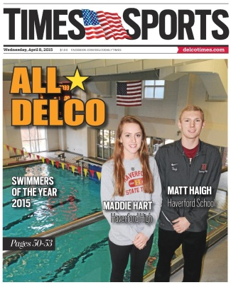 Maddie Hart of Haverford High and Matt Haigh of Haverford School are the 2014-15 Daily Times Swimmers of the Year. (Times Staff/TOM KELLY IV)