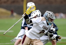 Haverford School's Grant Ament, seen in the April 7 meeting with Episcopal Academy, scored 110 points this season to power the Fords' unbeaten campaign. (Times Staff/TOM KELLY IV)