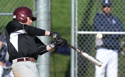 Haverford School's Kevin McGowan has been one of Delco's most prolific hitters this season. (Times Staff/TOM KELLY IV)