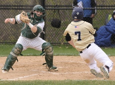 Bonner-Prendergast catcher Steve Furman, left, was named to the All-Catholic first team Wednesday. (Times Staff/ROBERT J. GURECKI)