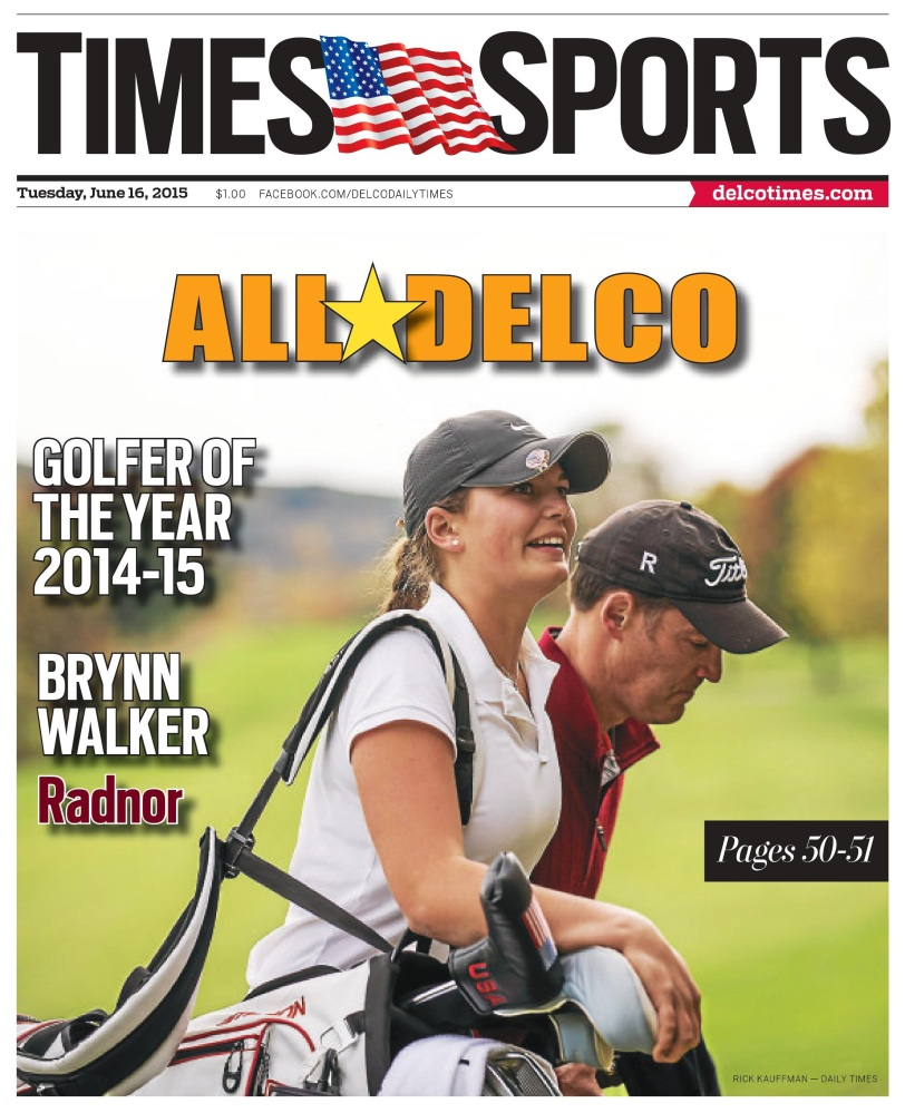 Radnor's Brynn Walker is the 2014-15 golfer of the year. (Times Staff/RICK KAUFFMAN)