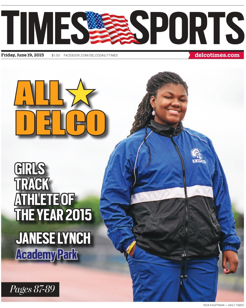 The 2015 Girls Track and Field Athlete of the Year is Academy Park's Janese Lynch. (Times Staff/RICK KAUFFMAN)